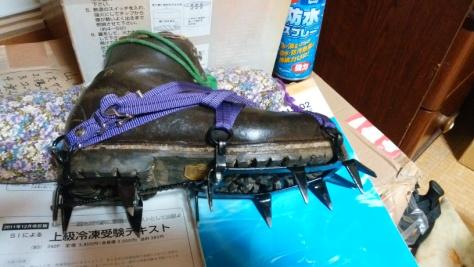 正規革靴+12本爪