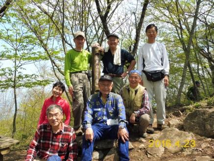 P1010725 仏果山頂上にて