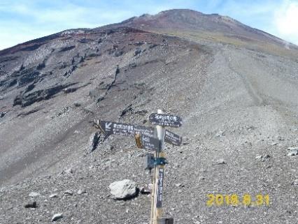 P1040225 馬の背から見上げる富士山頂